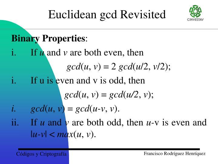 Binary Properties