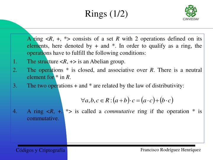 Rings (1/2)