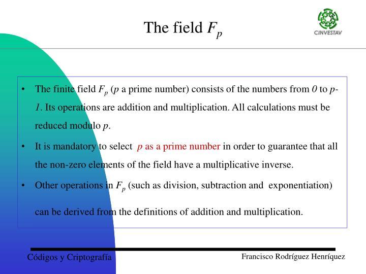 The finite field
