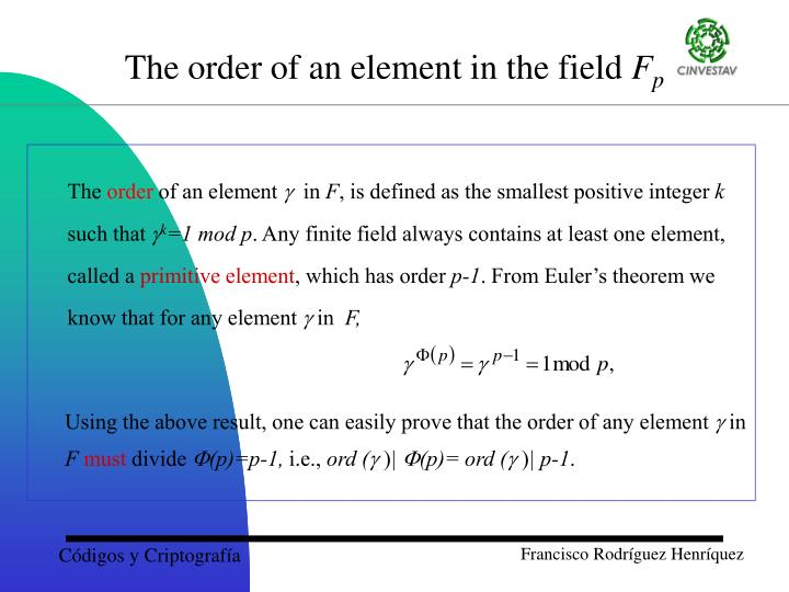 Using the above result, one can easily prove that the order of any element