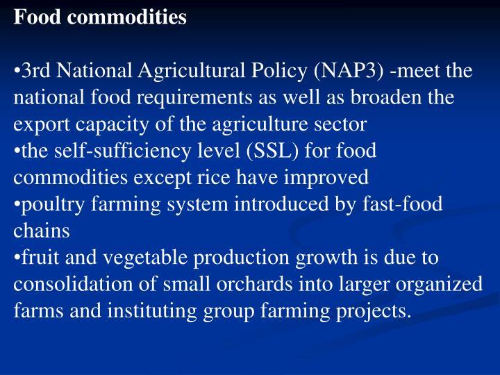 Food commodities