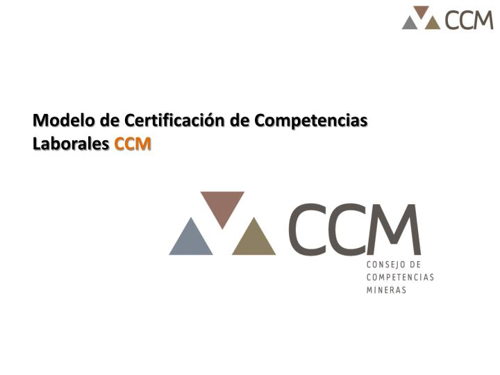 Modelo de Certificación de Competencias