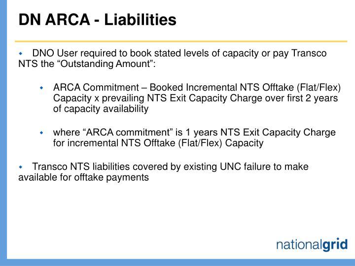DN ARCA - Liabilities