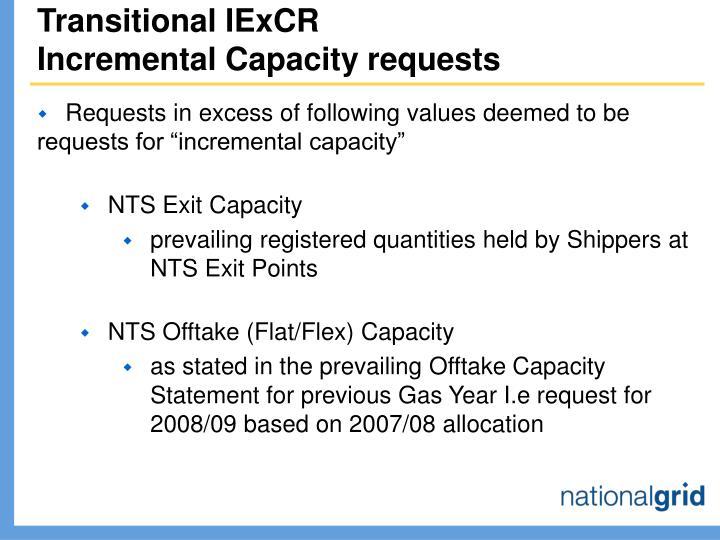 Transitional IExCR