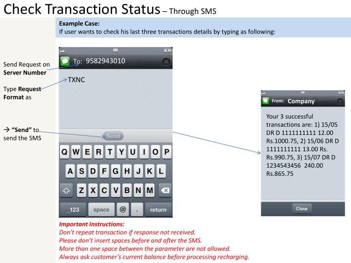 Check Transaction Status