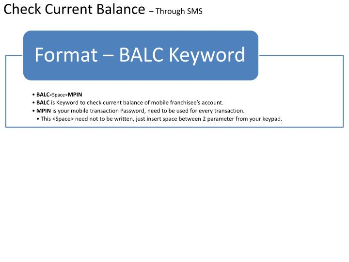 Check Current Balance