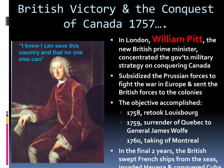 British Victory & the Conquest of Canada 1757….