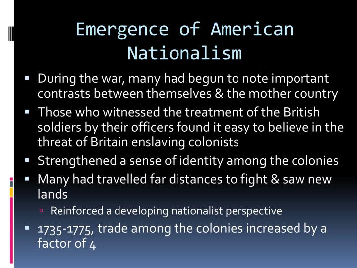 Emergence of American Nationalism