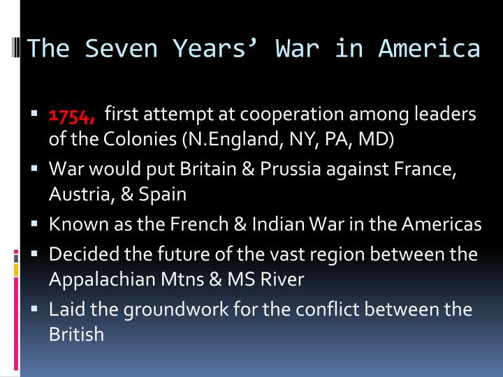 The Seven Years' War in America