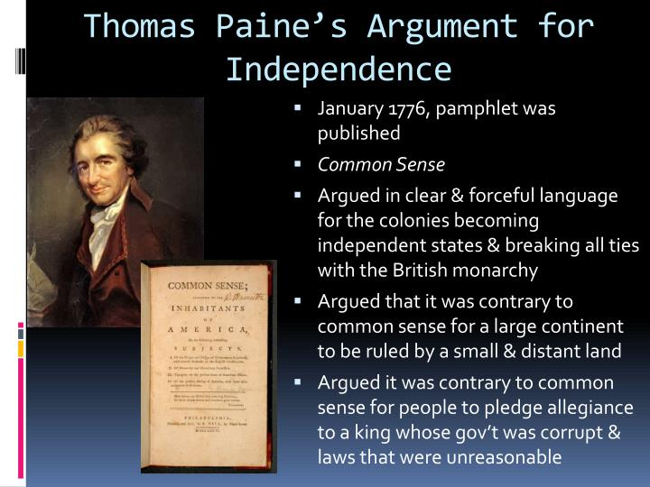 Thomas Paine's Argument for Independence