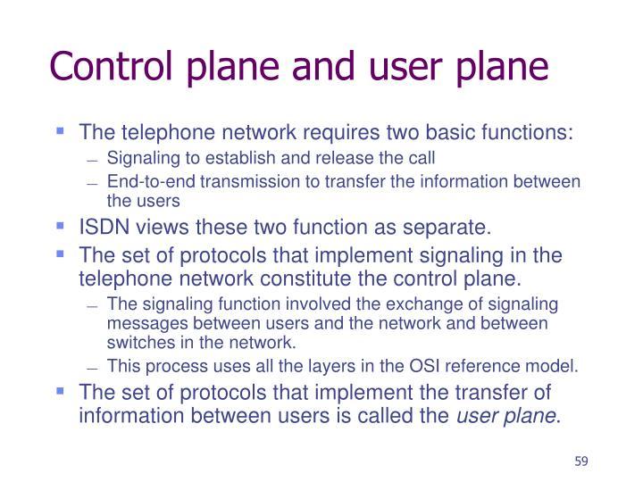 Control plane and user plane