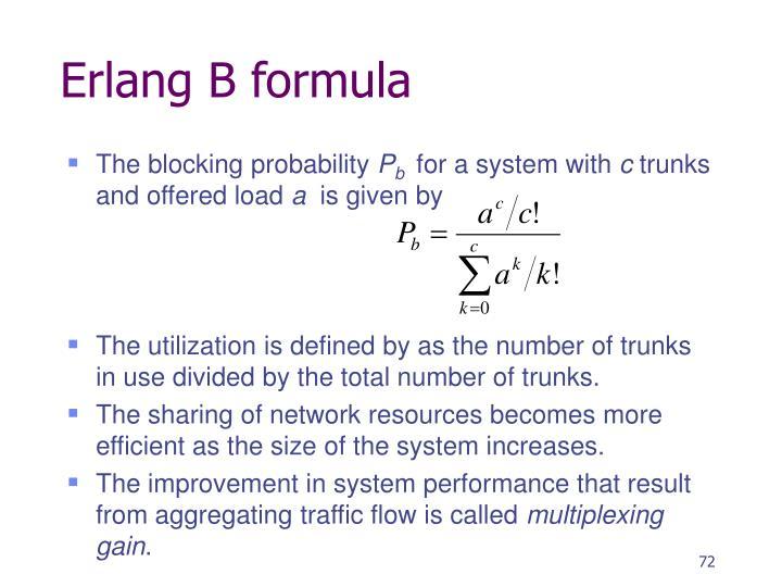 Erlang B formula