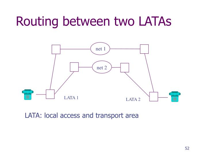 Routing between two LATAs