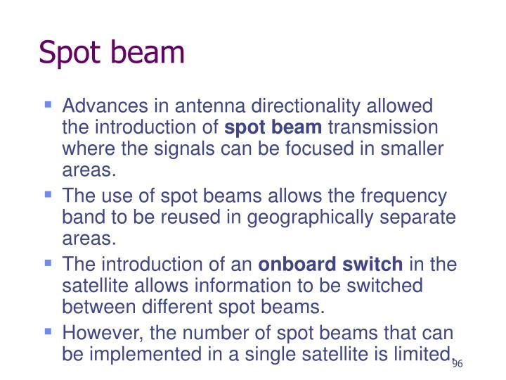 Spot beam