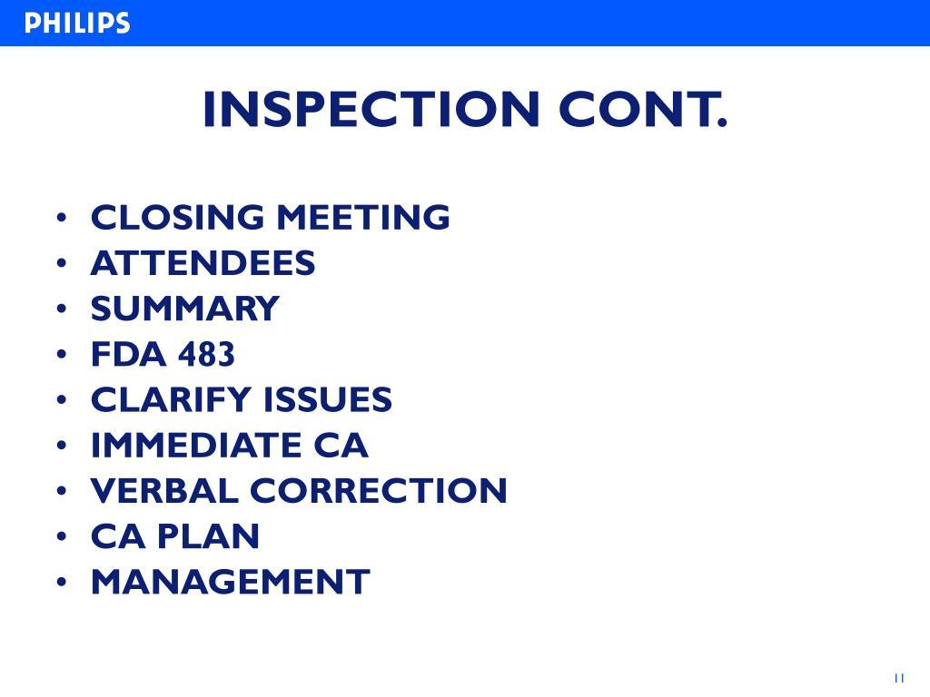 PPT - PREPARATION FOR FDA INSPECTION PowerPoint Presentation