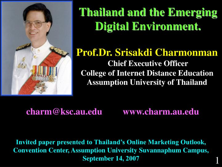 thailand and the emerging digital environment n.