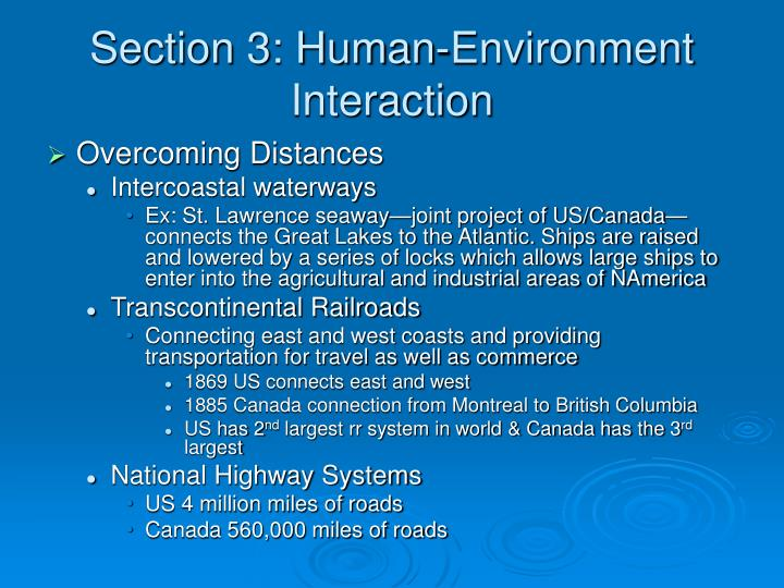 Section 3: Human-Environment Interaction