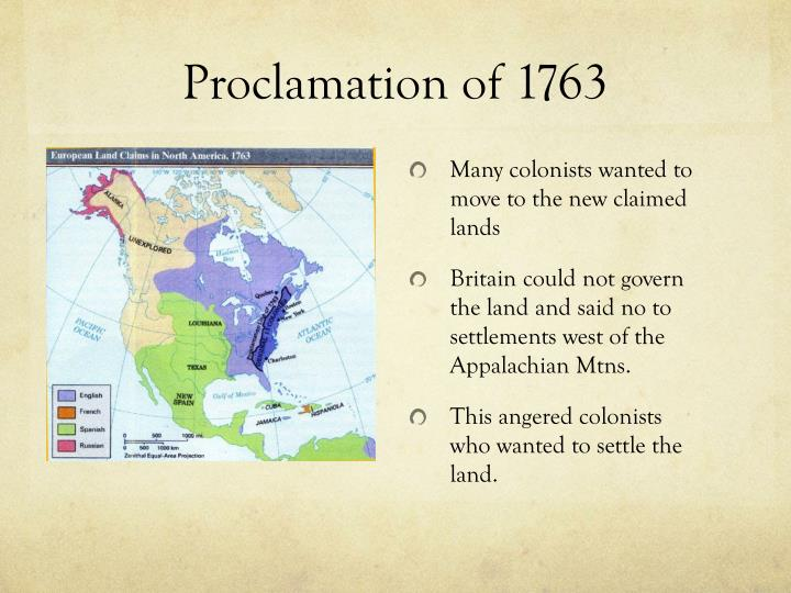 proclamation 1763 compromise Historical and geographical context students will examine multiple sources to learn about the proclamation line of 1763.