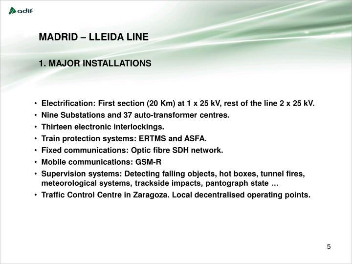 MADRID – LLEIDA LINE