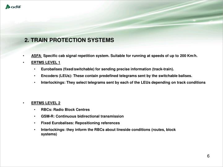 2. TRAIN PROTECTION SYSTEMS