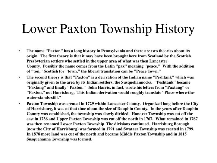 PPT - Lower Paxton Township PowerPoint Presentation - ID ...