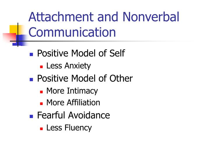 Attachment and Nonverbal Communication
