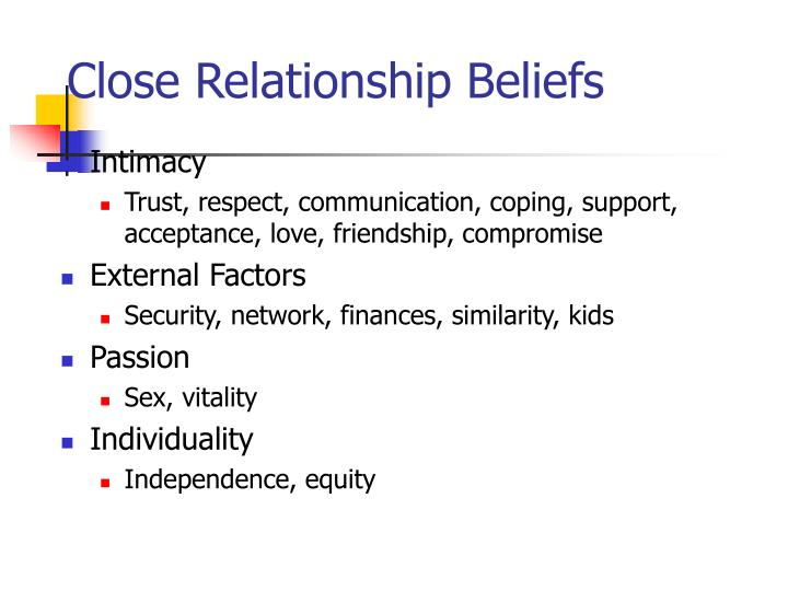 Close Relationship Beliefs