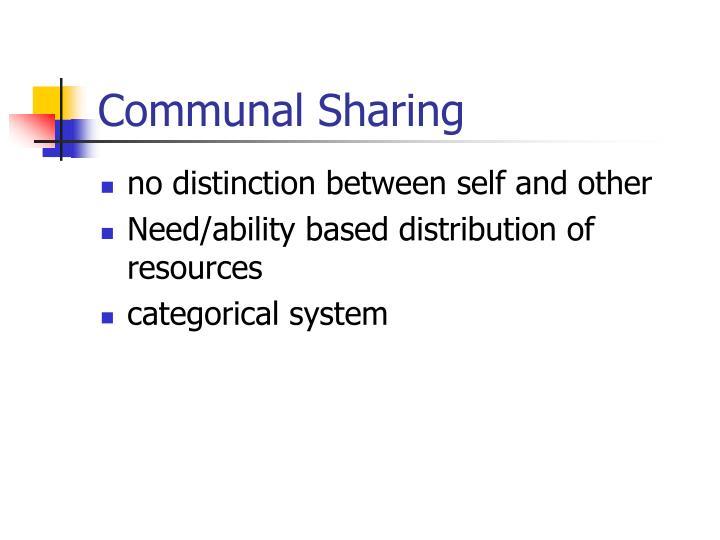Communal Sharing