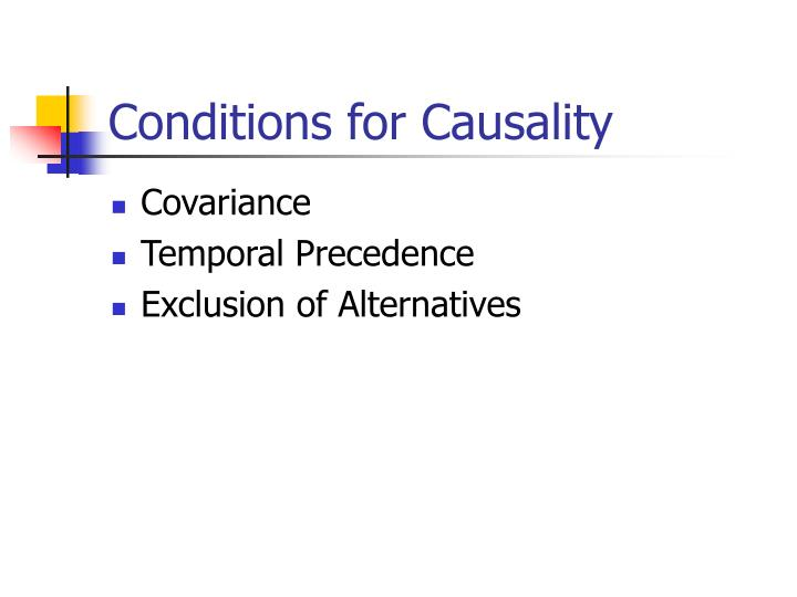 Conditions for Causality
