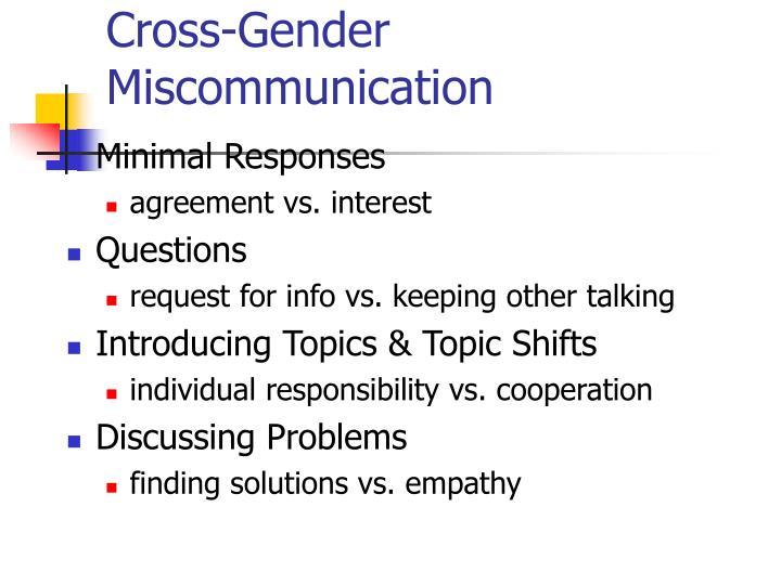 Cross-Gender Miscommunication