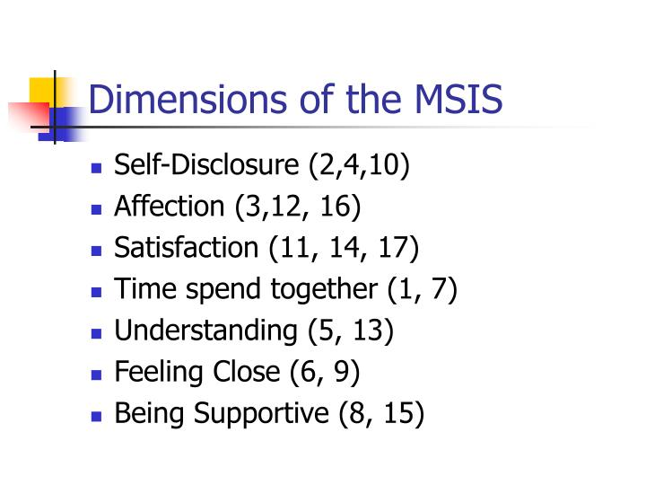 Dimensions of the MSIS