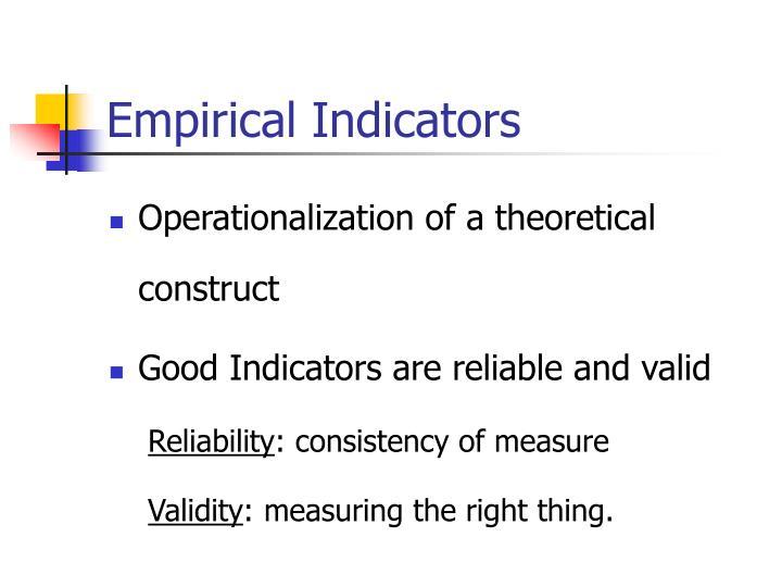 Empirical Indicators