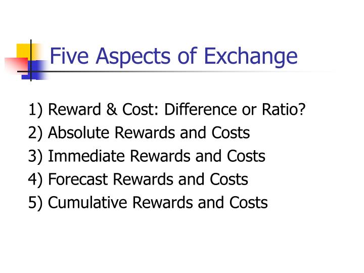 Five Aspects of Exchange