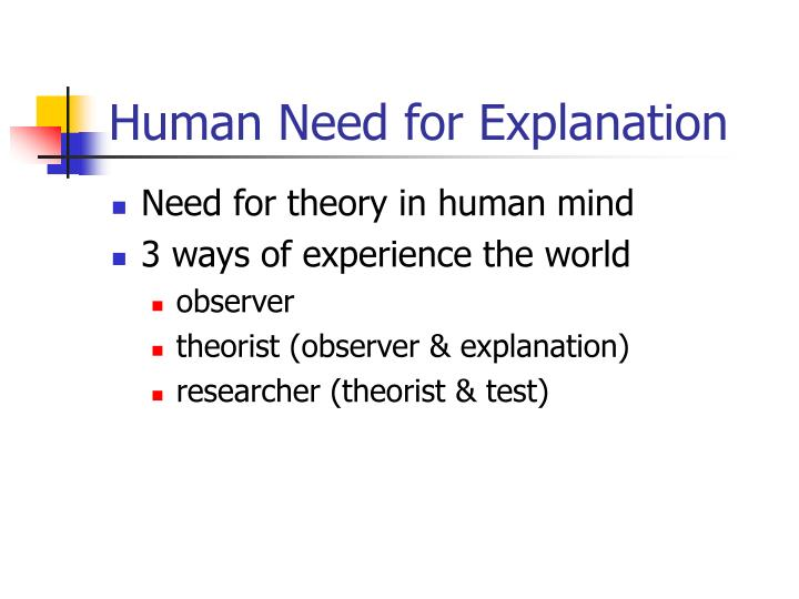 Human need for explanation