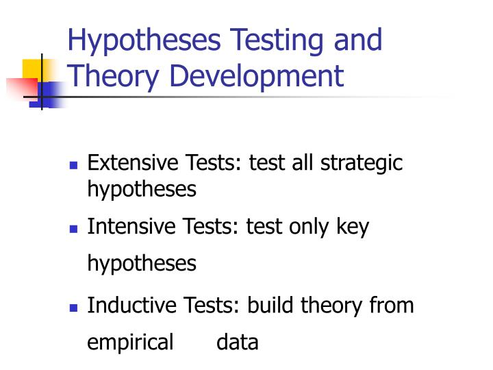 Hypotheses Testing and