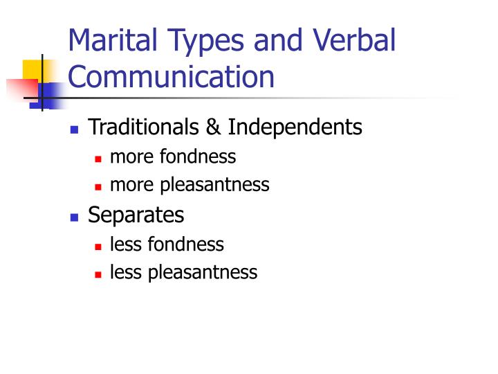 Marital Types and Verbal Communication
