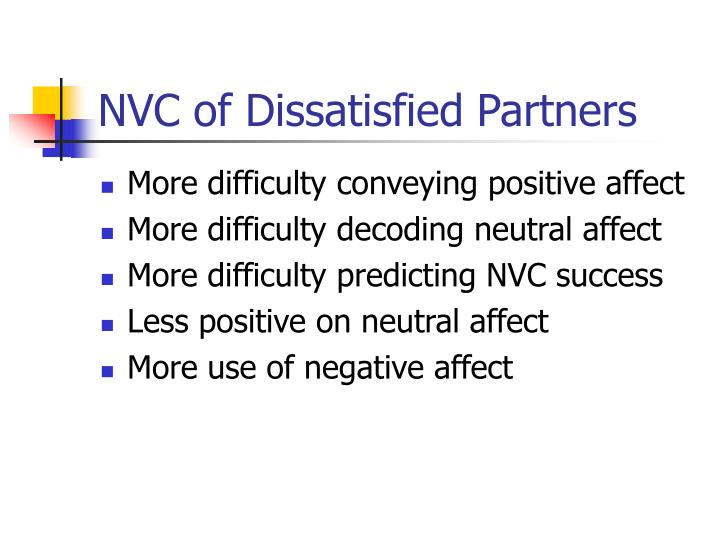 NVC of Dissatisfied Partners