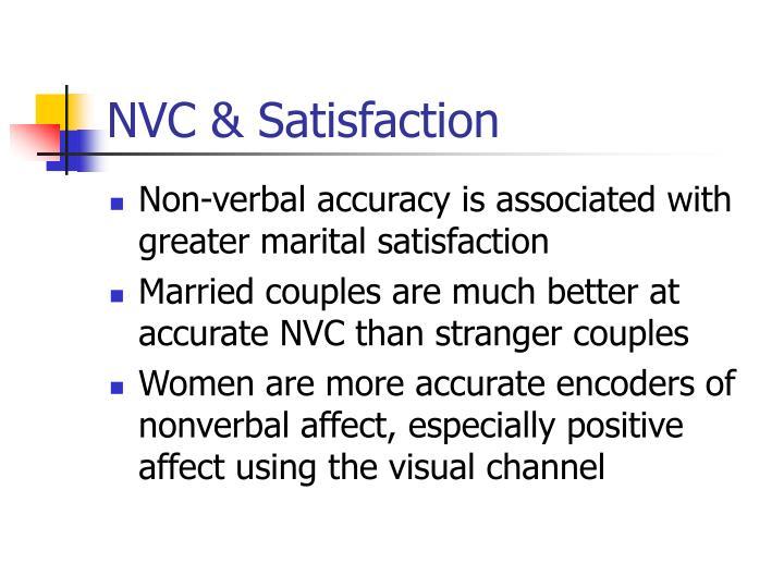 NVC & Satisfaction