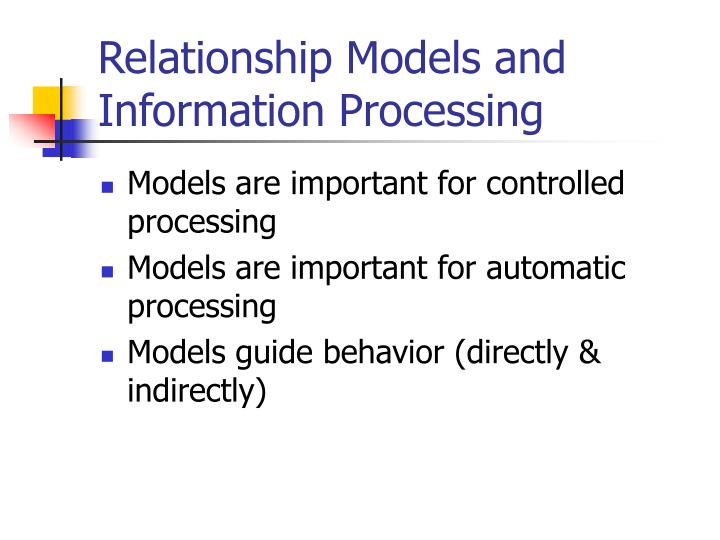 Relationship Models and Information Processing