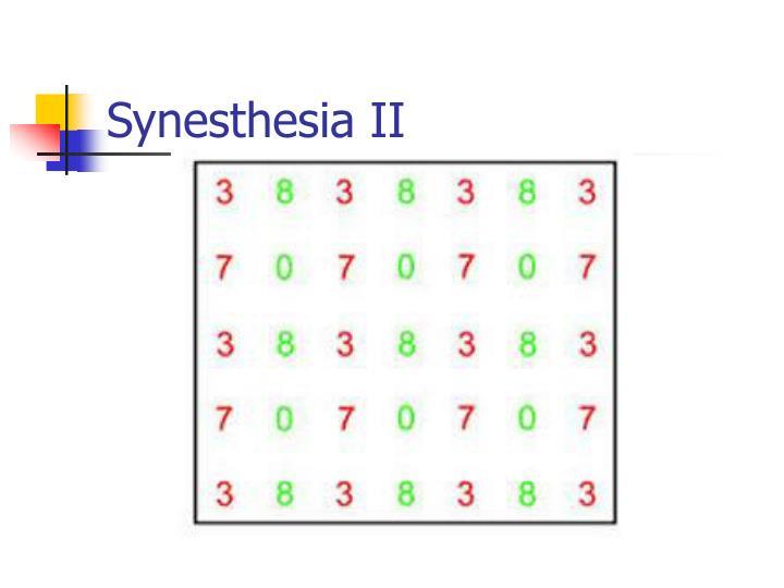 Synesthesia II