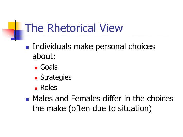 The Rhetorical View