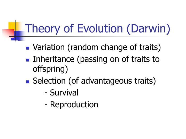 Theory of Evolution (Darwin)