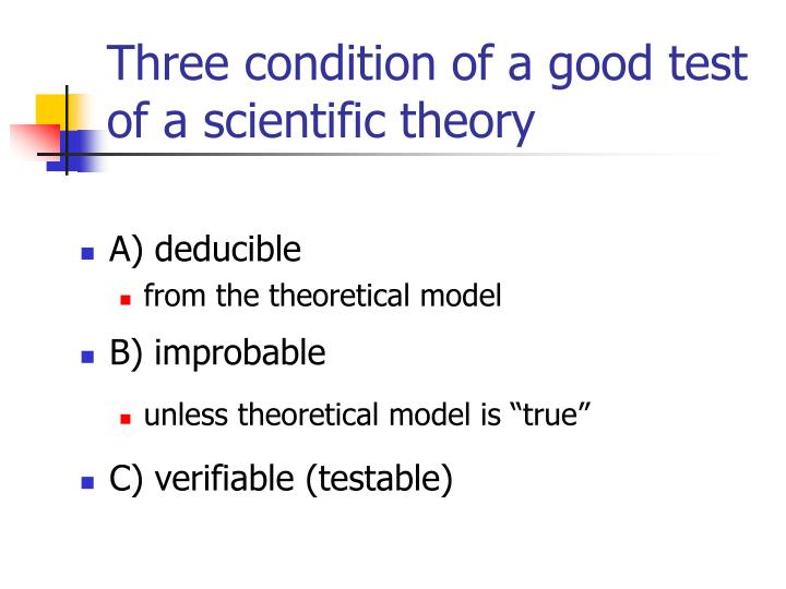 Three condition of a good test