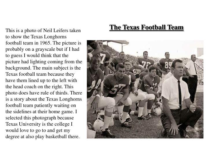The texas football team