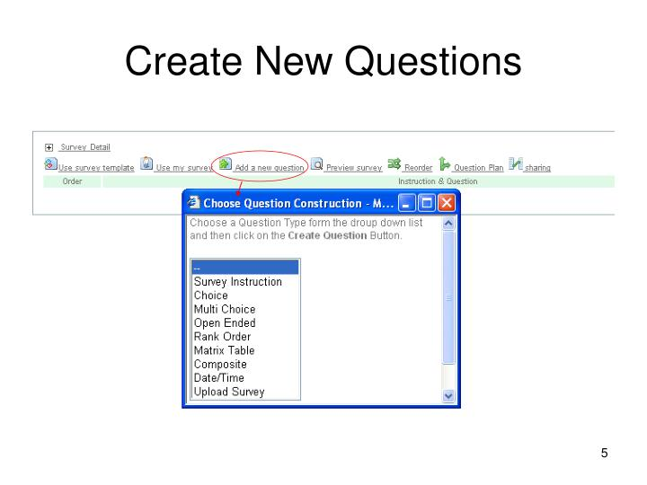Create New Questions