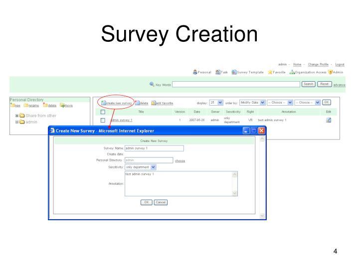 Survey Creation