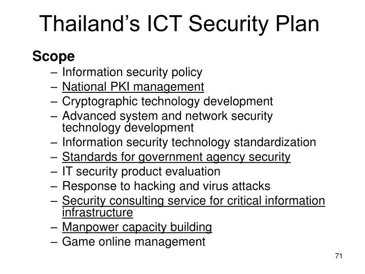 Thailand's ICT Security Plan