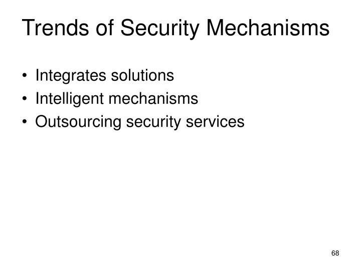 Trends of Security Mechanisms