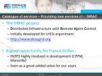 catalogue of services providing new services 1 dirac